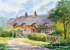 More information on Flint and Brick Cottage study 10.5 x 14.5 inches Watercolour on watercolour paper