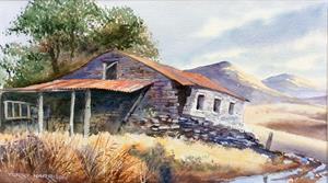 More information on Rusty Roof (Yorkshire Barn) 9.5 X 16 inches Watercolour on Watercolour Paper