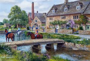 Buy Lower Slaughter 21 x 29 inches Watercolour on Watercolour board Online