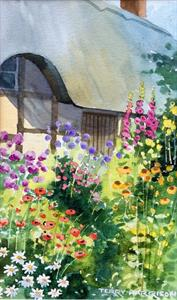 More information on A Cottage Garden 7 x 11.5 inches Watercolour on watercolour paper