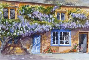 More information on Whisteria Cottage- Broadway 11 x 16 inches Watercolour