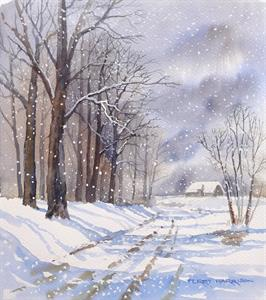 More information on More Snow Forecast 12 x 14 inches Watercolour on Paper