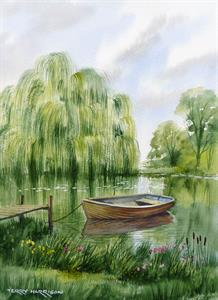 Buy Willow Mooring 12 x 16 inches watercolour on watercolour paper Online