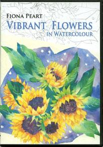 DVD Vibrant Flowers in watercolour by Fiona Peart
