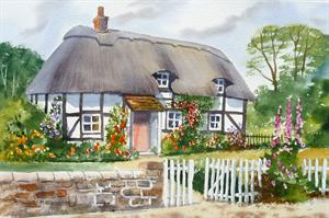 More information on Thatched Cottage 12 x 16 inches Watercolour on Watercolour paper