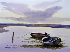 Buy Estuary Boats 12 X 17 inches watercolour on watercolour paper Online