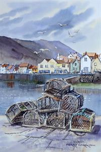 Buy Lobster Pots 11 x 15 inches watercolour on watercolour paper Online