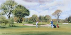 Buy Sunday Golf - Print 8 x 16 inches Online