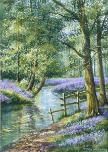 More information on Secret Bluebell Wood 12 x 18 inches Watercolour on paper