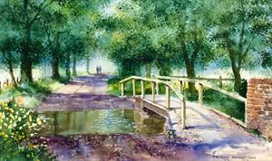Buy The Donkey Bridge 11.5 x 19 inches Watercolour on Watercolour paper Online