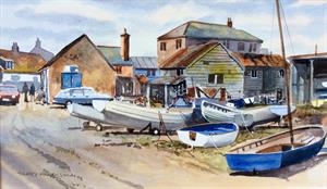 More information on Down at the Boatyard 9.5 x 16 inches Watercolour on paper