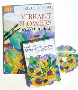 Vibrant Flowers PROJECT BOOK & DVD SET by Fiona Peart