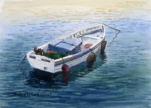 More information on Rowing Boat 6.5 x 9.5 inches watercolour