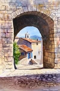 Buy Provencal Archway 11.5 x 17 inches Watercolour on watercolour paper Online