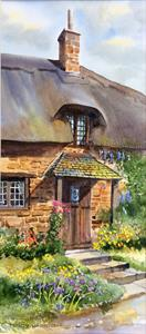 More information on Cottage Porch 8 x 18 inches Watercolour on watercolour paper