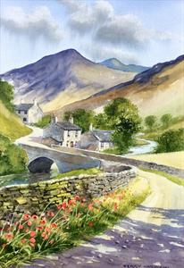 Buy Valley View 13 x 19 inches watercolour on watercolour paper Online