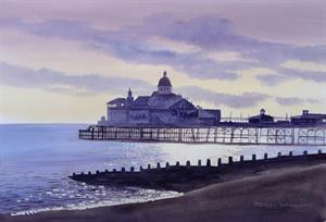 Buy End of the Pier (Eastbourne) 13 x 19 inches Watercolour on Watercolour paper Online