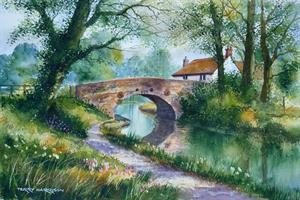 Buy Canalside Cottage 14 x 21 inches Watercolour on Watercolour Paper Online