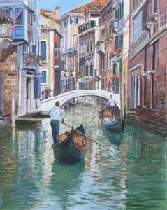 More information on Venice Backwater 16 x 20 inches Acrylic on canvas board