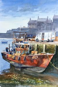 Buy Quayside Repair 14 x 19.5 inches Watercolour on watercolour paper Online