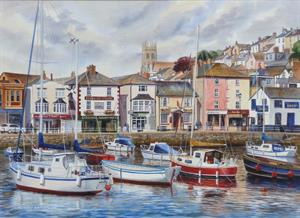 More information on Brixham Harbour 21 x 29 inches Watercolour on watercolour board