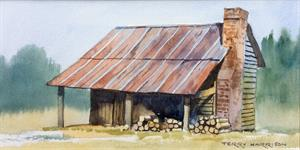 More information on The Wood Shed 5.5 X 11 inches Watercolour on Watercolour Paper
