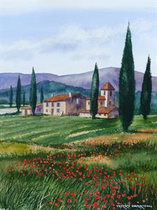 Buy Midday in Tuscany 13.5 x 17 inches Watercolour on watercolour paper Online