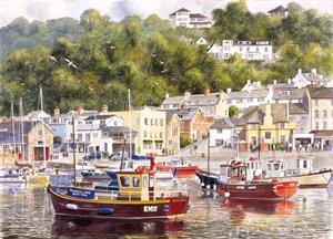 Buy Lyme Regis Harbour 21 X 29 inches Watercolour on Watercolour Board Online