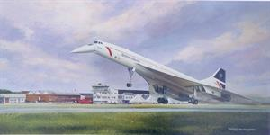 More information on Concord at Farnborough 8 x 16 inches