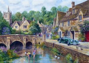 Buy Castle Combe 21 x 29 inches Watercolour on Watercolour board Online