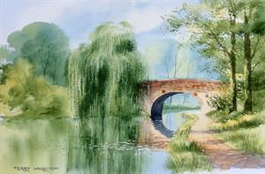 Buy The Willow 12 x 18 inches Watercolour on Watercolour Paper Online