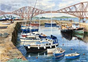 Buy Queensferry 21 x 29 inches Watercolour on Watercolour  board Online