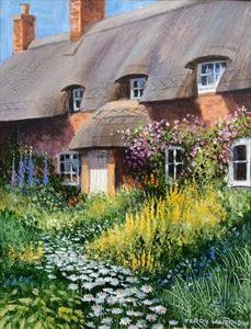 More information on Cottage Garden 9 x 12 inches Acrylic on watercolour paper