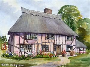 More information on Colour Washed Cottage 9.5 x 12.5 inches Watercolour on Watercolour paper