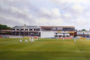 Buy Northampton Ground 17.5 x 24.5 inches Watercolour and Acrylic on Board Online