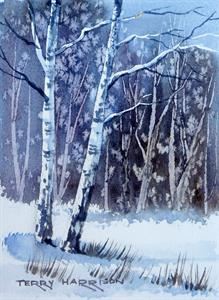 Buy Textures in Snow 6 x 8 inches Watercolour on Watercolour Paper Online