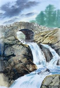 Buy At Full Flow 9 x 12 inches watercolour on watercolour paper Online