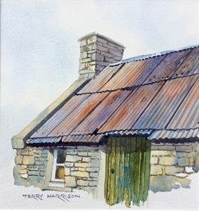 More information on The Old Tin Roof 9 x 9.5 inches Watercolour on watercolour paper