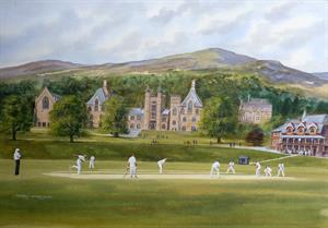 More information on Malvern College Cricket 20 x 28 inches Watercolour and acrylic on board
