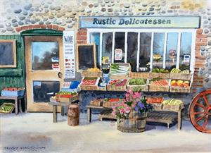More information on Deli at Cley 10 x 14 inches Watercolour on watercolour paper