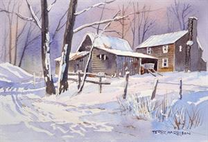 Buy The Farm in Snow 9 x 13 inches Online