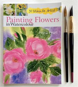 More information on Painting Flowers Book and 2 Brush Set
