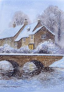 Buy A Festive Welcome 12 x 16  inches Watercolour on Paper Online