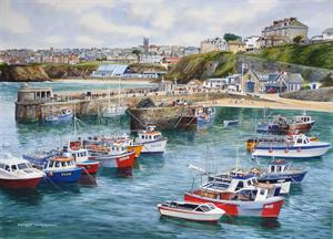 Buy Newquay Harbour 21 x 29 inches Watercolour on watercolour Board Online