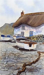 Buy On the Quay 9.5 x 16 inches Watercolour on watercolour paper Online