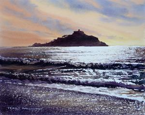 Buy St Michaels Mount 10 x 12.5 inches original watercolour on paper Online