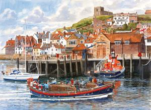 Buy Whitby Harbour 21 x 29 inches Watercolour on Watercolour Board Online