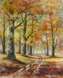 Buy Autumn Through the Woods 12 x 14.5 inches watercolour on watercolour paper Online