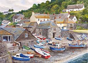 Buy Cadgewith Cove 21 x 29 inches Watercolour on Watercolour Board Online