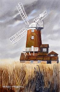 Buy Cley Windmill 8.5 x 12 inches Watercolour on Watercolour paper Online
